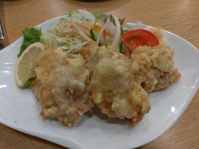 味とめ 鶏のから揚げ580円