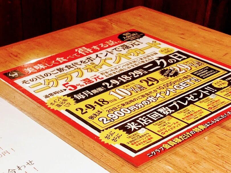 二クラブポイントカード