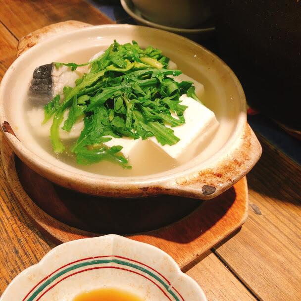 さわら湯豆腐 780円 オープン